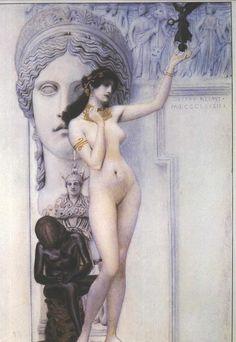 Gustav Klimt - Allegory of Sculpture (1889) - Google Search