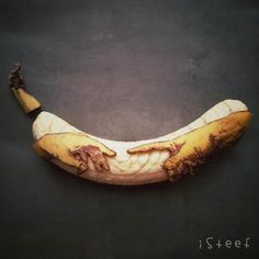 We're going bananas over these super fun yellow fruit creations by artist Stephan Brusche from Rotterdam in the Netherlands. Who knew the humble banana had so much potential in the hands of someone so artistically talented? I will never look at another one the same way again!