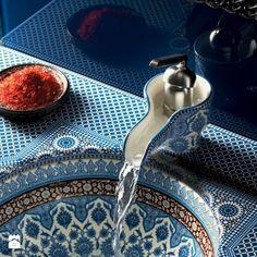 zlew/umywalka kuchnia/łazienka meksykański wzór - Łazienka - Styl Vintage - Galeria Wnętrz Art De Vivre