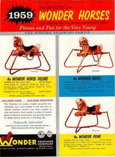 1959 Advert 3 PG Toy Wonder Horse Flyer Pony Mare   eBay