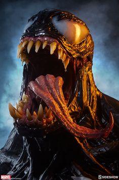 Venom Life-Size Bust Coming Soon Venom Spiderman, Marvel Venom, Marvel Villains, Spiderman Art, Amazing Spiderman, Venom Comics, Marvel Comics Art, Marvel Memes, New Venom