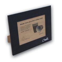 Recycled Coffee Cup Photo Frame 7x5  Chalk  Price : £17.95 http://www.eco-project.co.uk/Recycled-Coffee-Photo-Frame-Chalk/dp/B007W5AJRU