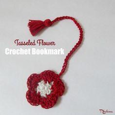 Tasseled Flower Crochet Bookmark ~ FREE Crochet Pattern