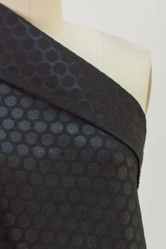 Black Spot Brocade Woven