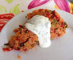 Couscous-Salat mit Kräuter-Dipp