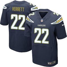 Nike Elite Jason Verrett Navy Blue Men's Jersey - Los Angeles Chargers #22 NFL Home