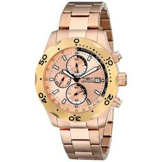 online shopping for Invicta Men's 17750 Specialty Gold-Plated Watch from top store. See new offer for Invicta Men's 17750 Specialty Gold-Plated Watch Invicta Watch Bands, Brand Name Watches, Rose Gold Watches, Watches For Men, Wrist Watches, Men's Watches, Jewelry Watches, Stainless Steel Bracelet, Quartz Watch