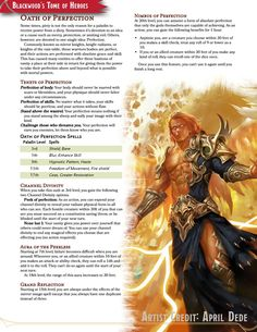 Oath of Perfection // A paladin oath formed of vanity and a desire for perfection in all things // draft - UnearthedArcana Dungeons And Dragons Classes, Dungeons And Dragons Homebrew, Dnd Paladin, Dnd Classes, Dnd Races, Create Your Own Adventure, Dnd 5e Homebrew, Dragon Rpg, Dnd Characters