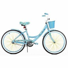 "24"" GIRLS? CRUISER BIKE BLUE ALUMINUM FRAME Lightweight Bicycle Basket NEW! #Kent"