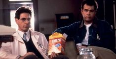 Ghostbusters Ray and Egon 1980s Films, 80s Movies, Film Movie, Good Movies, Awesome Movies, Original Ghostbusters, The Real Ghostbusters, Harold Ramis, Couple