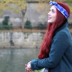 Crown and Glory Hair Accessories — Darcy Purple Floral Headscarf