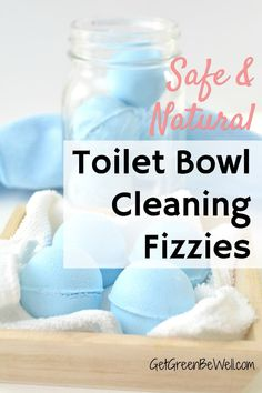 Easily clean the grossest place in your home! These DIY toilet bombs use all natural ingredients to safely clean the toilet. Just drop one in for nontoxic green cleaning and no work from you! Eco Friendly Cleaning Products, Homemade Cleaning Products, Natural Cleaning Products, Sustainable Products, Homemade Toilet Bowl Cleaner, Cleaners Homemade, Homemade Soaps, Homemade Beauty, Diy Beauty