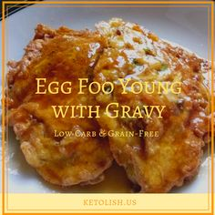 Keto egg foo young with gravy - Ketolish.us Ketolish. Vegetable Egg Foo Young Recipe, Chicken Egg Foo Young Recipe, Shrimp Egg Foo Young, Low Carb Egg Foo Young Recipe, Vegetarian Egg Foo Young Recipe, Easy Chinese Recipes, Asian Recipes, Oriental Recipes, Oriental Food