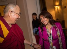 Marci with the Dalai Lama. Hear Marci and Debra tell you how they created miracles in their lives. Free call Feb 14.