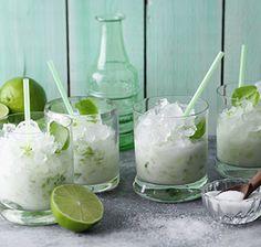Limetten-Kokos-Slush Dieser raffinierte, leicht herbe Slush ist eine tolle Abkühlung an heißen Sommertagen. Limette und Kokosmilch sorgen für das Tropi-Frutti-Feeling.