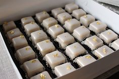 Demitasse Petit Fours with gold leaf for luxury brand event
