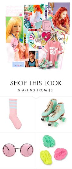 """""""💘"""" by muzikgurl ❤ liked on Polyvore featuring one spo, Moxi, Brian Atwood, kpop, korean, redvelvet and russianroulette"""