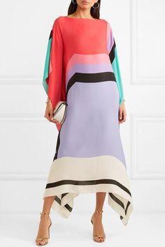 Multicolored silk Slips on silk Dry clean Made in the UK Silk Kimono Robe, Silk Dress, New Dress, Gown Suit, Bridesmaid Robes, Bridesmaids, Velvet Fashion, Bridal Robes, Silk Slip