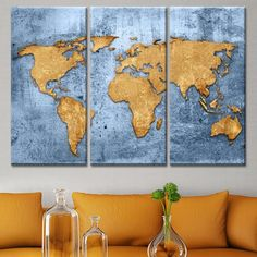 Image result for world map unstretched painting World Map Painting, Maps, Paintings, Photography, Home Decor, Frames, Mappa Mundi, Photograph, Decoration Home