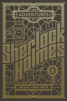 Sherlock Holmes cover design by Jude Landry (Bender Bound) Book Cover Art, Book Cover Design, Book Art, Sherlock Holmes Book, Designers Gráficos, Bg Design, Line Design, Illustration Art Nouveau, Vintage Magazine