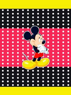 Mickey Red, Black and Yellow: Free Printable Candy Bar Labels.