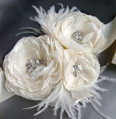 Vintage Bridal Accessories  ♥ Gorgeous Wedding Bridal Sash