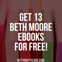 When I think of some of the most influential Christian authors, Beth Moore is definitely at the top of the list. In fact, the first Bible study I ever did was by Beth Moore. Her devotionals and Bible studies have made a huge impact on my own walk with God, and they re great for women in any walk with God.