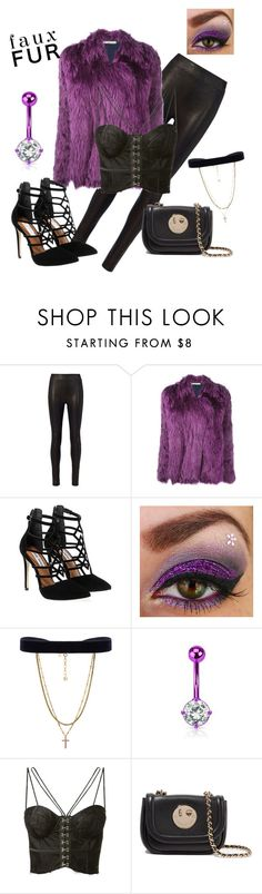 """""""purple fur"""" by lone-star-lady ❤ liked on Polyvore featuring rag & bone, Balenciaga, Steve Madden, Vanessa Mooney, Misha and Hill & Friends"""