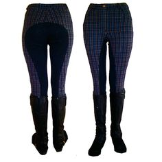 Fat Pony - Brown Check Breeches 6-26 $80