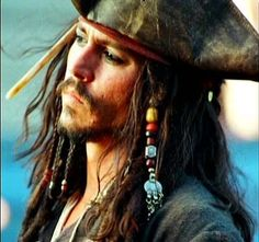 Captain Jack Sparrow (Johnny Depp) - photo taken by producer Jerry Bruckheimer