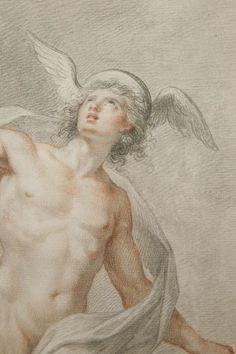 Large Drawing by Francesco Bartolozzi of Mercury, 1776