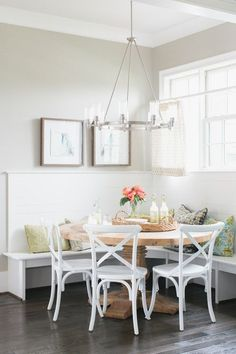 Trendy Ideas For Breakfast Nook Dining Room Corner Bench Dining Room Corner, Dining Room Chairs, Dining Rooms, Dinning Nook, Dining Area, Breakfast Nook Decor, Eat Breakfast, Banquette Seating, Kitchen Banquette