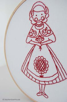 Embroidery Patterns Hand Embroidery Scandinavian by SeptemberHouse, $6.00