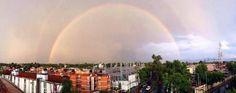 Dos arcoíris en el cielo de la Ciudad de México