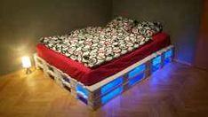 Modré podsvícení palet photo step by step tutorial - bez klincov :) Mattress, Toddler Bed, Bedroom Decor, House Design, Furniture, Home Decor, Child Bed, Decoration Home, Room Decor