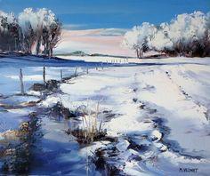 peintures de Michel Vezinet Pastel Landscape, Winter Landscape, Watercolor Landscape, Landscape Art, Landscape Paintings, Watercolor Paintings, Pablo Picasso, Seascape Art, Winter Painting