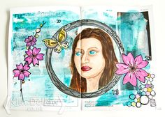 Art Journal faces- Kim Dellow: first attempt at painting a face and tips on starting to journal.