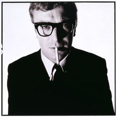 Michael Caine by David Bailey  A photograph that evokes that much cool is practically begging for homages!