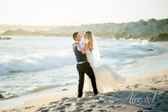 What a beautiful day! Romantic Beach Photos, Wedding Ceremony, Reception, What A Beautiful Day, Cabo, Bride, Sunset, Couple Photos, Photography