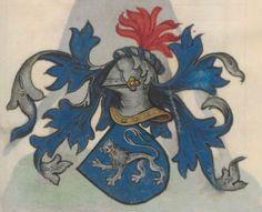 Armorial de la Table ronde.  Date d'édition :  1490-1500  Ms-4976  Folio 95r