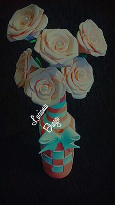 Garrafinha c/ rosas