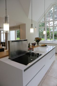 breakfast bar worktop with hob - Google Search