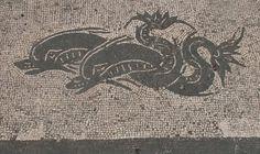 More dolphin mosaics in Ostia Antica.