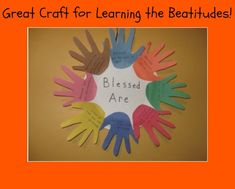 A craft that's ideal with helping your Sunday school students learn and remember the Beatitudes. Sunday School Projects, Sunday School Kids, Sunday School Activities, Sunday School Lessons, School Ideas, Night School, Bible Story Crafts, Bible School Crafts, Bible Crafts For Kids