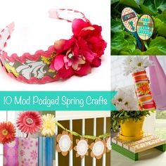 Spring is on the way, and it's time to get crafty! I've pulled together 10 projects that you can make for spring using Mod Podge. Pin this for later!