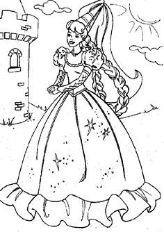 A PDF of 40 Barbie Movie Coloring Pages that are ready to