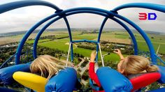 Sky Shot 3D front seat on-ride HD POV Skyline Park