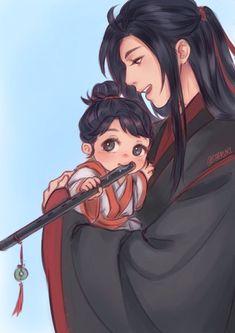 a yuan mdzs Anime Chibi, Manga Anime, Chinese Cartoon, Familia Anime, Cute Gay Couples, The Grandmaster, Light Novel, Fujoshi, Chinese Art