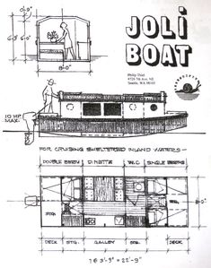 Boat Plans 408279522445826424 - Joli Boat Source by jclaudemorfin Make A Boat, Build Your Own Boat, Diy Boat, Wooden Boat Building, Boat Building Plans, Shanty Boat, Wood Boat Plans, Sailboat Plans, Deck Plans