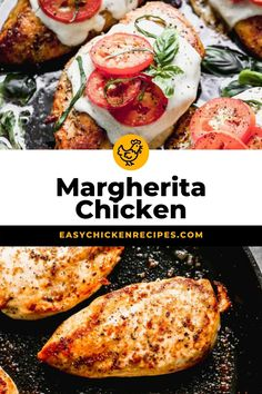 This delicious and easy to make margherita chicken recipe is the perfect family weeknight meal. Chicken breasts are oven baked with tomatoes and mozzarella for delicious meal everyone will love. Low-carb, easy to make and you only need a handful of ingredients. #margheritachicken #chickenbreasts #weeknightdinner #lowcarb #easychickendinner Italian Chicken Recipes, Low Carb Chicken Recipes, Turkey Recipes, Baked Chicken Breast, Chicken Breasts, Margarita Chicken, Yummy Recipes, Dinner Recipes, Healthy Chicken Dinner